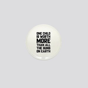 One Child Is Worth More Mini Button