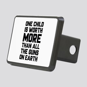 One Child Is Worth More Rectangular Hitch Cover