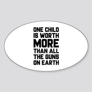 One Child Is Worth More Sticker (Oval)