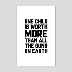One Child Is Worth More Mini Poster Print