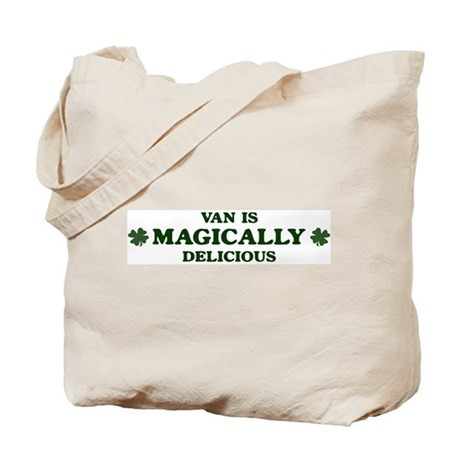Van is delicious Tote Bag