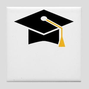 doctoral cap Tile Coaster