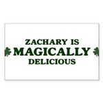 Zachary is delicious Rectangle Sticker