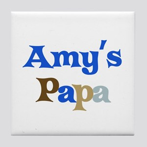 Amy's Papa Tile Coaster