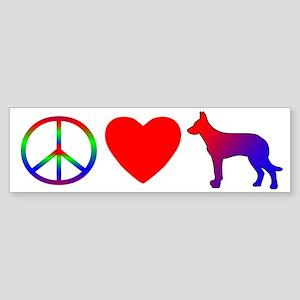 Peace, Love, Beauceron Bumper Sticker