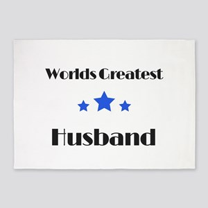 Worlds Greatest Husband 5'x7'Area Rug