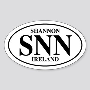 Shannon, Ireland Oval Sticker