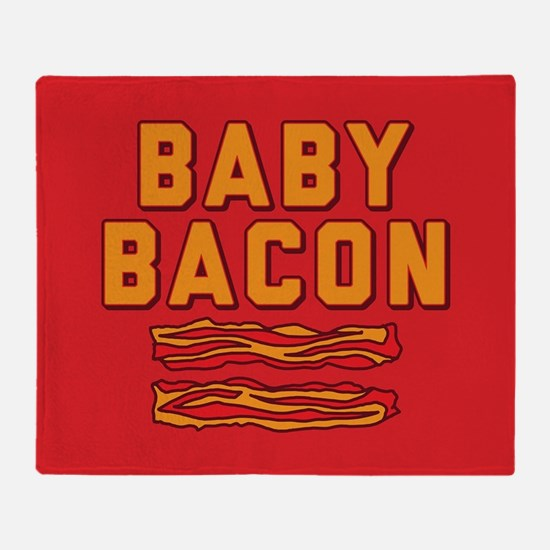 Baby Bacon Throw Blanket