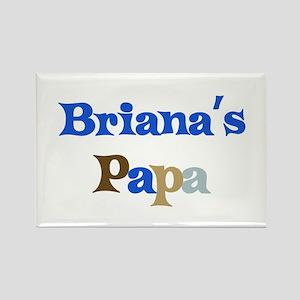 Briana's Papa Rectangle Magnet