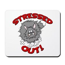 Stressed Out Cat Mousepad