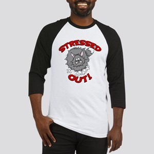 Stressed Out Cat Baseball Jersey