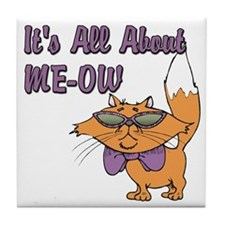 It's All About Me Cat Tile Coaster