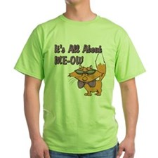 It's All About Me Cat Green T-Shirt
