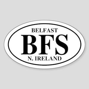 Belfast, Northern Ireland Oval Sticker