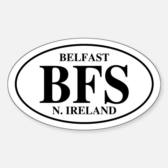 Belfast, Northern Ireland Oval Decal