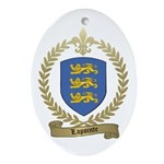 LAPOINTE Family Crest Oval Ornament