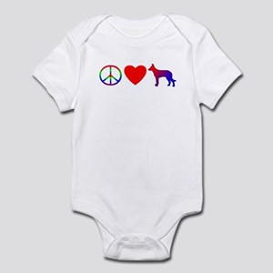 Peace, Love, Beauceron Baby Bodysuit