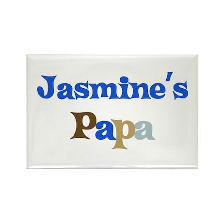Jasmine's Papa Rectangle Magnet