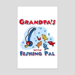 Grandpa's Fishing Pal Mini Poster Print