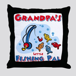 Grandpa's Fishing Pal Throw Pillow