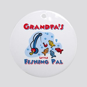 Grandpa's Fishing Pal Ornament (Round)