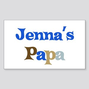 Jenna's Papa Rectangle Sticker