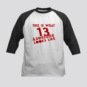 This Is What 13 And Awesome L Kids Baseball Jersey