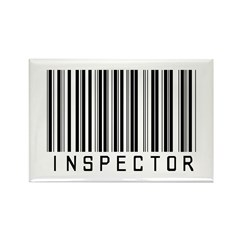 Inspector Barcode Rectangle Magnet (10 pack)