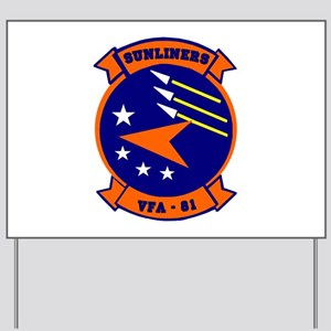 VFA 81 Sunliners Yard Sign