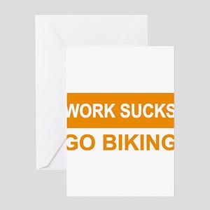 biking Greeting Cards