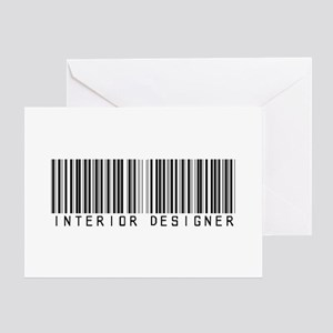 Interior Designer Barcode Greeting Card