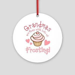Grandmas Frosting Ornament (Round)