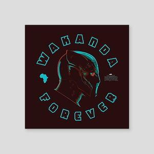 "Black Panther Wakanda Forev Square Sticker 3"" x 3"""