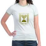 Jerusalem / Israel Emblem Jr. Ringer T-Shirt