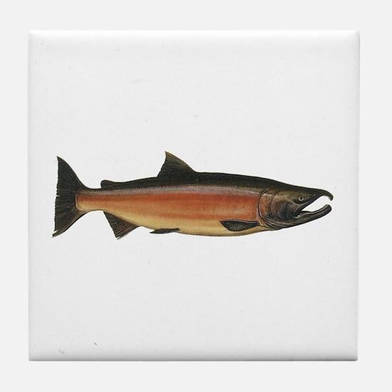 Coho Salmon Tile Coaster