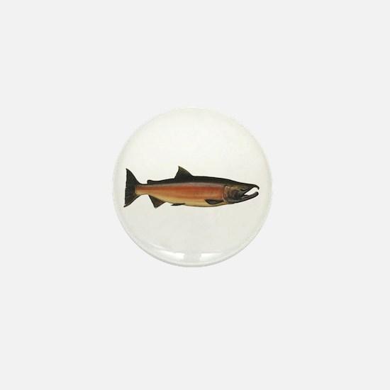 Coho Salmon Mini Button