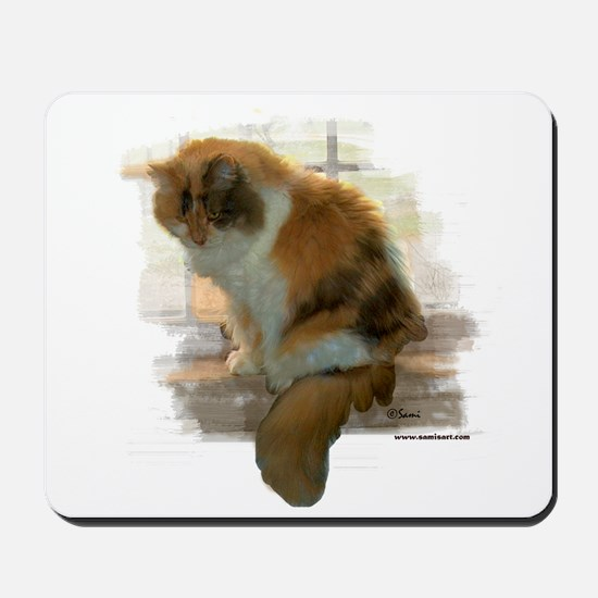 Window Calico Cat Mousepad