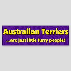 Furry People Australian Terrier Bumper Sticker
