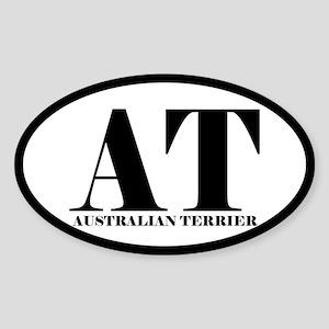 AT Abbreviation Australian Terrier Oval Sticker