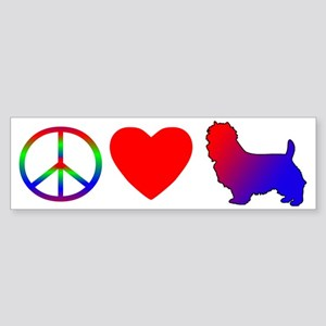 Peace, Love, Australian Terrier Bumper Sticker
