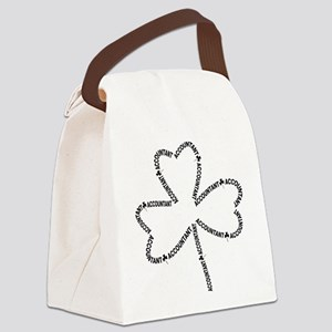 Accountant Text Shamrock Canvas Lunch Bag