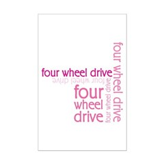 Pink Four Wheel Drive Girl Posters