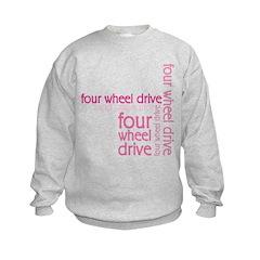Pink Four Wheel Drive Girl Sweatshirt