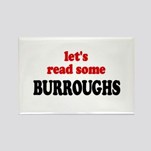 Let's Read Burroughs Rectangle Magnet