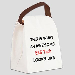 awesome ekg tech Canvas Lunch Bag