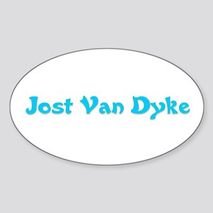 Jost Van Dyke Oval Sticker