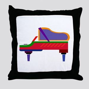 Funky Piano Throw Pillow