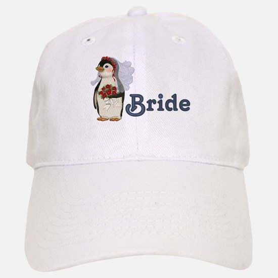 Penguin Wedding - Bride Baseball Baseball Cap