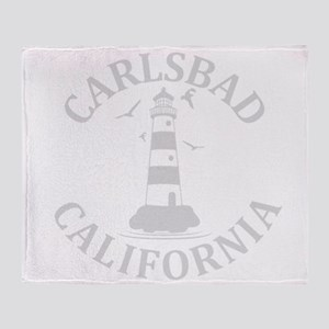 Summer carlsbad state- california Throw Blanket