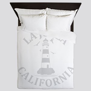 Summer la jolla shores- california Queen Duvet